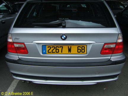 Olav S French License Plates Photographed In Europe