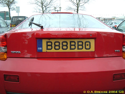 Great Britain former personalised series rear plate B88 BBO.jpg (36 kB)