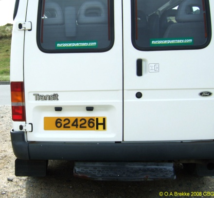 Guernsey normal series rear plate hire car 62426.jpg (61 kB)