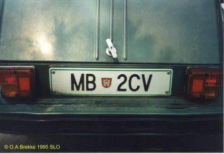 Personalised series since 1992 1992 2004 plate style mb maribor