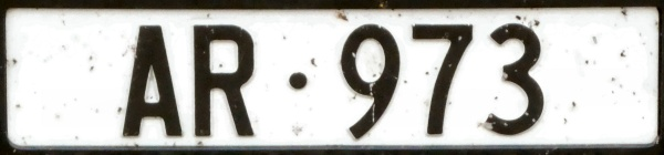 Swizerland normal series front plate close-up AR·973.jpg (60 kB)