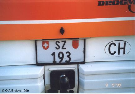 Switzerland normal series rear plate SZ 193.jpg (17 kB)