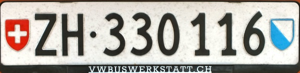 Switzerland normal series rear plate close-up ZH·330116.jpg (47 kB)