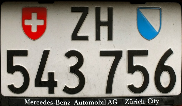 Switzerland normal series rear plate close-up ZH·543756.jpg (79 kB)