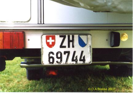 Switzerland normal series former style rear plate ZH 69744.jpg (22 kB)
