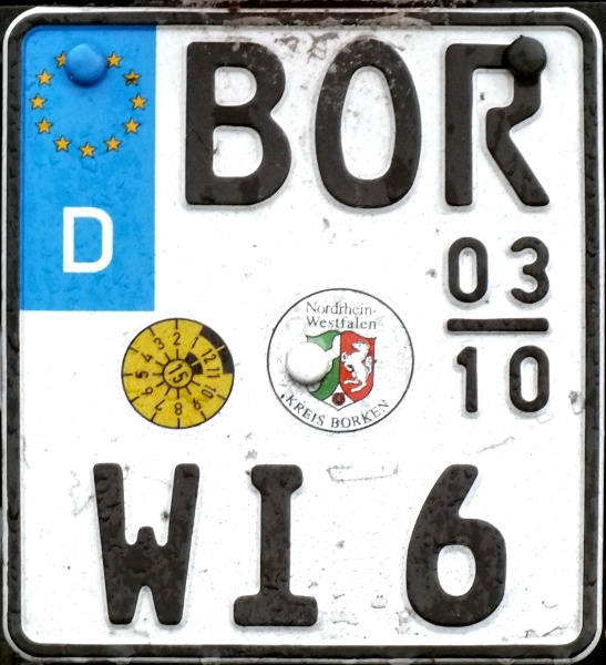 Germany seasonal motorcycle plate close-up BOR WI 6.jpg (137 kB)
