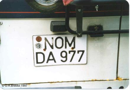 Germany normal series former style NOM-DA 977.jpg (18 kB)