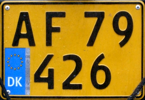 Denmark former commercial series double line rear plate close-up AF 79426.jpg (110 kB)