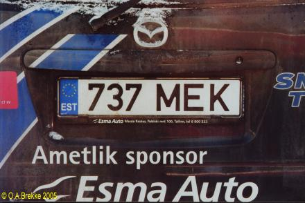 Olav s estonian license plates text only version number plates of