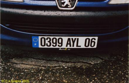 France former normal series front plate 0399 AYL 06.jpg (24 kB)