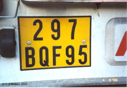 France former normal series rear plate 297 BQF 95.jpg (24 kB)