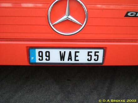 France former provisional series front plate 99 WAE 55.jpg (25 kB)