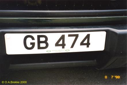Great Britain former normal series remade as cherished number GB 474.jpg (18 kB)