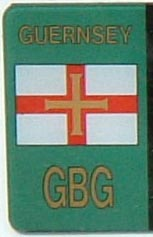 Guernsey close-up of the band with flag and GBG (8 kB)