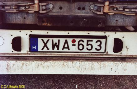 Trailer series since 1990 2004 onwards plate style x until 2014