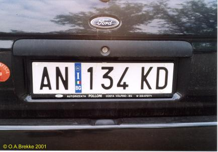 Italy normal series rear plate former style AN 134 KD.jpg (22 kB)