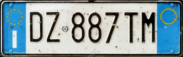 Italy normal series front plate close-up DZ 887 TM.jpg (57 kB)