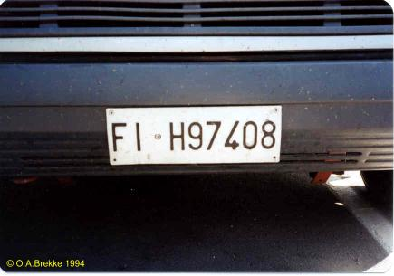 Italy former normal series front plate FI H97408.jpg (20 kB)