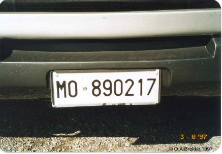 Italy former normal series front plate MO 890217.jpg (22 kB)