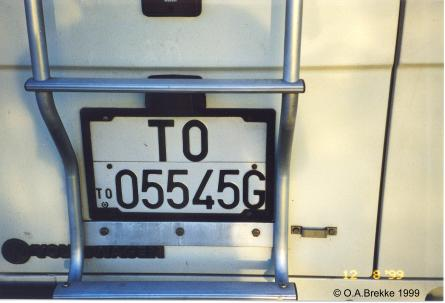 Italy former normal series rear plate TO 05545G.jpg (21 kB)