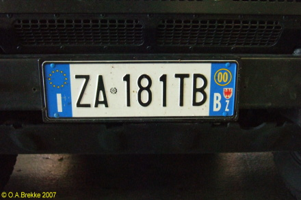 Italy normal series front plate ZA 181 TB.jpg (59 kB)