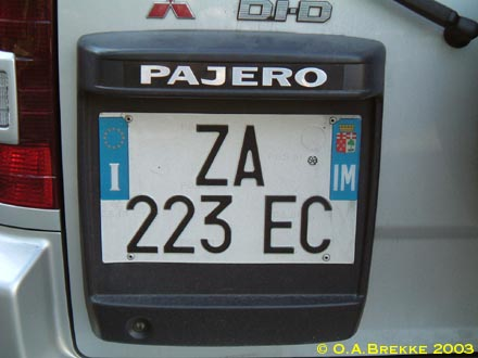 Italy normal series rear plate former style ZA 223 EC.jpg (25 kB)