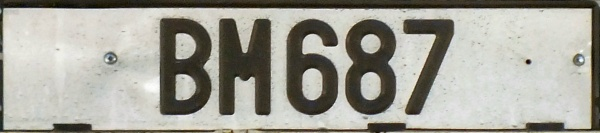 Lithuania trailer series replacement plate close-up BM 687.jpg (38 kB)