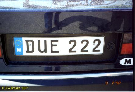 Olav S Maltese License Plates Text Only Version Number