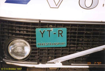 Norway additional truck plate YT-R.jpg (25 kB)