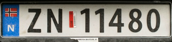 Svalbard registration imported to mainland Norway former style close-up ZN 11480.jpg (41 kB)