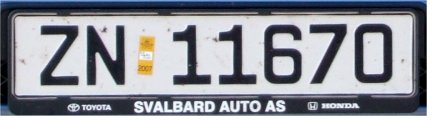 Svalbard registration imported to mainland Norway former style close-up ZN 11670.jpg (15 kB)