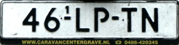 Netherlands replacement plate trailer repeater plate former normal series close-up 46-LP-TN.jpg (73 kB)