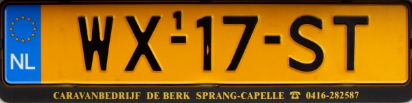 Netherlands replacement plate former trailer series over 750 kg close-up WX-17-ST.jpg (46 kB)
