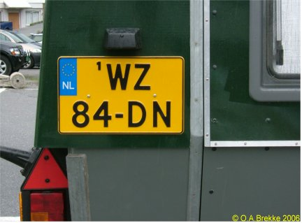 Netherlands replacement plate former trailer series over 750 kg WZ-84-DN.jpg (26 kB)