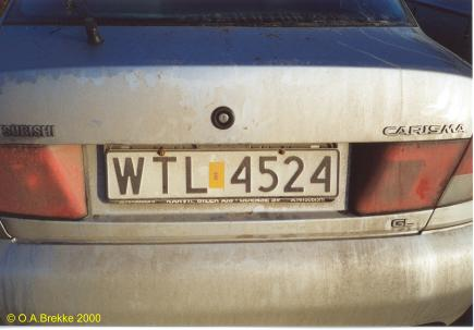 Poland former normal series unofficial plate WTL 4524.jpg (19 kB)