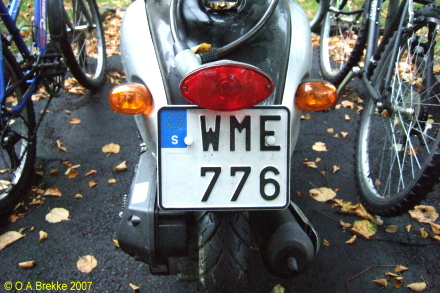 Sweden normal series moped former style WME 776.jpg (95 kB)