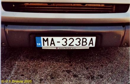 Olav s slovak license plates text only version number plates of