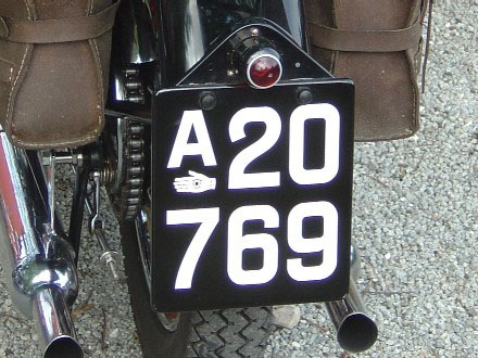 Denmark historically correct number plate A 20769.jpg (55 kB)