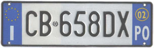 Italy normal series front plate CB 658DX.jpg (10 kB)
